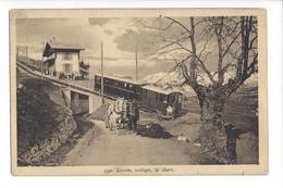 28028 - Leysin Village La Gare Train Et Attelage - VD Vaud