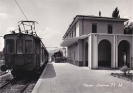 VARZI - PAVIA - STAZIONE FERROVIARIA CON TRENO - FERROVIE - TRASPORTI - Pavia