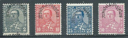 Albanie YT N°208-210-212-213 Roi Zogou 1° Surchargé Mbrëtaia-Shqiptare Neuf ** - Albanie
