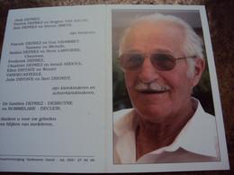 Doodsprentje/Bidprentje  André Deprez (Wedr S.ROMMELAERE) Koekelare 1923-2006 Gent Ere-Brigadecomm Rijkswacht Gistel - Religion & Esotericism