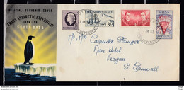 Official Souvenir Cover Trans Antarctic Expedition 1956 Scott Base Ross Dependency - Covers & Documents