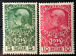 AUSTRIA 1914 - MLH - ANK 178, 179 - Complete Set! - Neufs