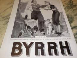 ANCIENNE PUBLICITE CRITIQUE APERITIF BYRRH  1937 - Alcools