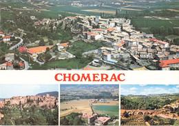 07 Chomerac Carte 4 Vues Vue Générale Vieux Chomerac Chateau De Mauras Pont Sicard Sur La Verone - Autres Communes