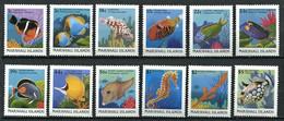 295 - MARSHALL 1988 - Yvert 172/83 - Poisson Hippocampe - Neuf **(MNH) Sans Trace De Charniere - Marshall Islands