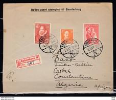 Reccomandée Brief Van Kobenhavn Naar Constantine Algerie (Algerije) - Covers & Documents