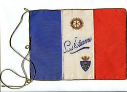 ROTARY International SAINT-ETIENNE 1926 Soie Tissée / Fil Or / TBE  Fanion INTROUVABLE - Organizaciones