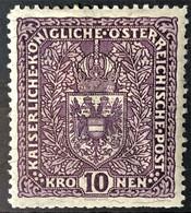 AUSTRIA 1917/19 - MLH - ANK 211 II - 10K - Neufs