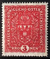 AUSTRIA 1917/19 - MLH - ANK 209 - 3K - Neufs