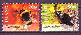 Iceland 2004 MiNr. 1075 - 1076  Island Insects And Spiders  # 1     2v  MNH** 3.50 € - Nuovi