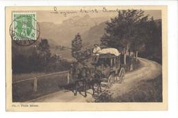 28032 - Leysin  Poste Suisse Diligence Carte Taxée - VD Vaud