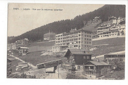 28036 - Leysin Vue Sur Le Nouveau Quartier 1917 Train - VD Vaud