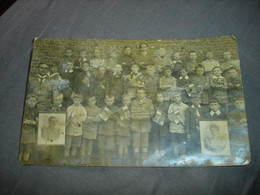 SUPER RARE !! SART DAMES AVELINES ( VILLERS LA VILLE ) - HOMMAGE AUX USA - 1919 WW1 ECOLE LIBRE ( CPA PHOTO ) - Villers-la-Ville