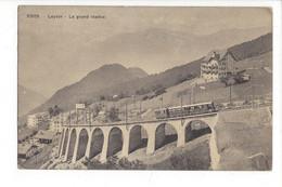 28037 - Leysin Le Grand Viaduc Train - VD Vaud