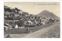28039 - Leysin Village Et Le Mont D'Or 1919 - VD Vaud