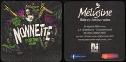France Sous Bock Beermat Coaster Bière Beer Mélusine Monnette Porter Brune SU - Portavasos