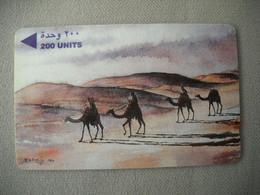 7050 Télécarte Collection TROUPEAU De CHAMEAUX  Désert Carte Bahreïn  ( Recto Verso)  Carte Téléphonique - Altri
