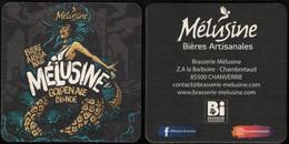 France Sous Bock Beermat Coaster Bière Beer Mélusine Golden Ale Blonde SU - Portavasos