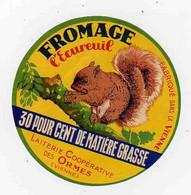 Mai21 86002   étiquette  Fromage L'écureuil - Cheese