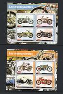 MOTOR CYCLES - CONGO - 2001 - MOTORBIKES SHEETLETS OF 4 X 2  MINT NEVER HINGED - Motorfietsen