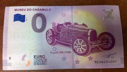 PORTUGAL MUSEU DO CARAMULO BUGATTI 35B BILLET ZERO EURO SOUVENIR 2018 BANKNOTE BANK NOTE EURO SCHEIN PAPER MONEY - Autres