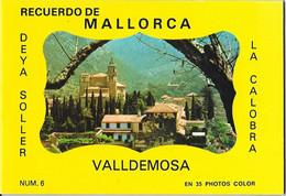 RECUERDO DE MALLORCA - VALLDEMOSA - DEYA SOLLER - LA CALOBRA - 35 Photos Color - NUM.6 - Reiseprospekte