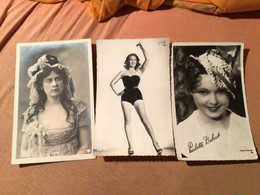Lot 3 Artistes Femme Carol, Dubost, Kerlor - Entertainers