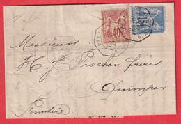 N°90 94 PARIS RUE DE CLERY E1 LEVEE EXCEPTIONNELLE QUIMPER FINISTERE - 1877-1920: Semi Modern Period