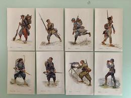 Militaria Les Héroïques Soldats De France 8 Planches Artistiques 20 X 13 Cm TB 4 Scans - Uniformes