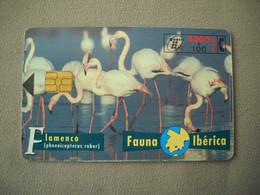 7063 Télécarte Collection FLAMANDS ROSES  Carte Espagne  ( Recto Verso)  Carte Téléphonique - Altri