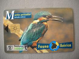7061 Télécarte Collection MARTIN PECHEUR   Carte Espagne  ( Recto Verso)  Carte Téléphonique - Altri