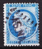 """60B - 25c Bleu Cérès - Type II - Oblitéré Losange PC """"ASNA"""" (Assemblée Nationale) - Très Beau - 1871-1875 Ceres"""