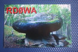 RUSSIA. Khakassia, Shira Village. Dolmen - Menhir - Old Postcard QSL - Dolmen & Menhirs