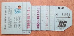 Carte De Tram De La S.T.I.C. Charleroi N° 71552 / Publicité Pour Delhaise Au Verso Bon De Réduction De 50 Fb 1991 - Europe
