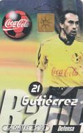 MEXICO. FUTBOL - COCA COLA - Raúl Gutiérrez. 1999-01. MX-TEL-P-0261. (181) - Deportes