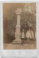 PHOTO XIX ème Siècle EPINAL Verso Manuscrit Colonne Trouvé Dans La Moselle Déposé Au Musée D'Epinal - Ancianas (antes De 1900)