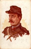 Artillerie. Canonnier. Dessin D'Albert Beertz - Guerra 1914-18