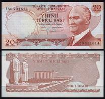 Türkei - Turkey 20 Lira Banknote 1970 (1974) Pick 187b UNC   (15780 - Turquia