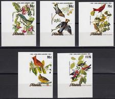 AITUTAKI 1985 Birth Bicentenary Of Audubon IMPERF Plate Proofs Set Of 5 - Aitutaki