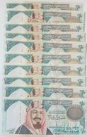 Saudi Arabia 20 Riyals 1999 P-27 UNC 10 Pieces From A Bundle - Saudi Arabia