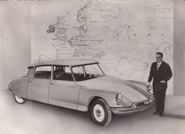 CITROEN =DS 19=-AUTO CAR VOITURES COCHE-CARTOLINA VERA FOTOGRAFIA- VIAGGIATA IL 18-5-1960 - Passenger Cars