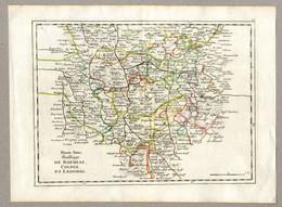 Original Antique Print 1759 Germany Upper Saxony Rochlitz Colditz Leisnig Cartographer Georges Louis Le Rouge - Geographical Maps