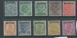Burma GVR, 1937, 3p - 8 Annas, MH* - Burma (...-1947)