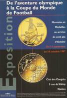 F87/ CARTE CPM Publicitaire PUB  Card Cart'com PUBLICITE Coupe Du Monde FOOTBALL Monnaie  Médailles - Coins (pictures)