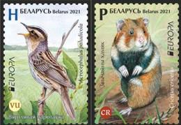 Belarus.2021.Europa CEPT.Endangered National Wildlife.2 V. ** . - 2020