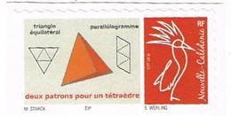 Nouvelle Caledonie Caledonia Timbre Personnalise A Moi Autocollant Prive 2021 Triangle Parallelogramme RR - Autres