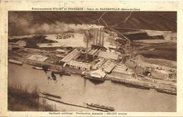 9755 CPA Gargenville - Etablissements Poliet Et Chausson - Cachet Publicitaire A. Bernion à Pontoise (voir Verso) - Gargenville
