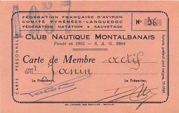CLUB NAUTIQUE MONTALBANAIS MONTAUBAN  1957 MR JANIN  FORMAT 11.50 X 7 CM - Altri