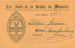 LES AMIS DE LA SCHOLA DU MOUSTIER  MONTAUBAN  1957 MME JANIN  FORMAT 12.50 X 8 CM - Other