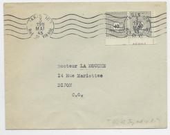 ARC TRIOMPHE 40C PAIRE LETTRE PARIS 108 3 MAI 1945 AU TARIF PEU COMMUN - 1944-45 Triumphbogen